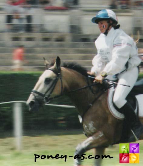 Rebecca Faity et Arpege de l'Aulne aux championnats d'Europe du Touquet en 1998 - photo Pauline Bernuchon