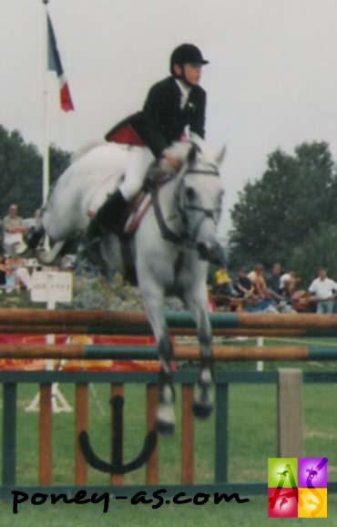 Olivier Vanderhasselt et Identity aux championnats d'Europe du Touquet en 1998 - photo Pauline Bernuchon