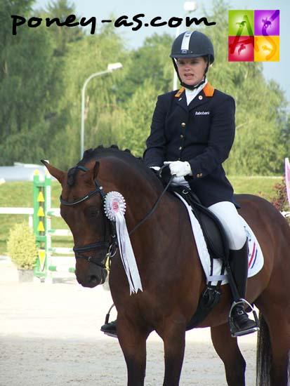 Anne Meulendijks (Ned) et Boticelli, également membre de l'équipe néerlandaise, photo Pauline Bernuchon