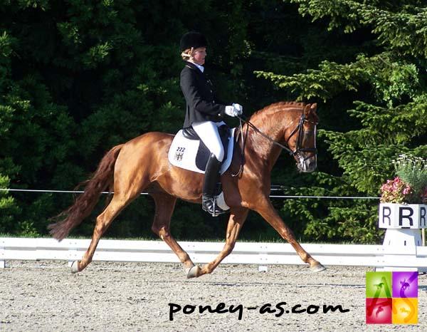 Florine Kienbaum (Ger) et Going East remportent la consolante, photo Pauline Bernuchon