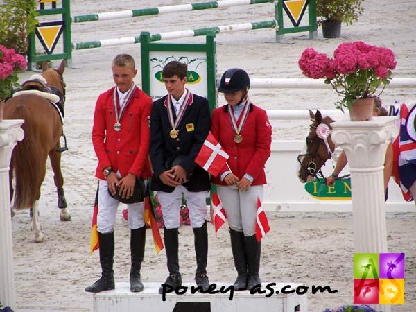 Podium de la finale individuelle de CSO, photo Pauline Bernuchon