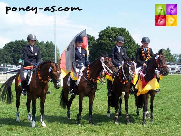 L'équipe d'Allemagne médaillée d'or, photo Pauline Bernuchon