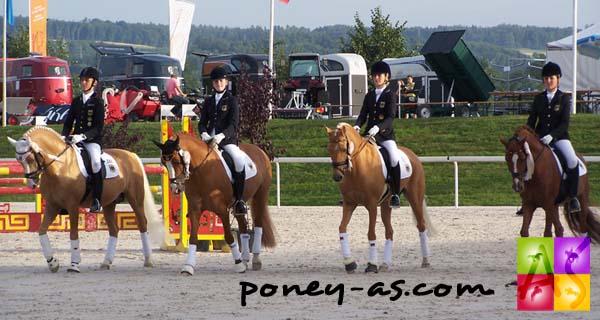 L'équipe d'Allemagne en or ! photo Pauline Bernuchon