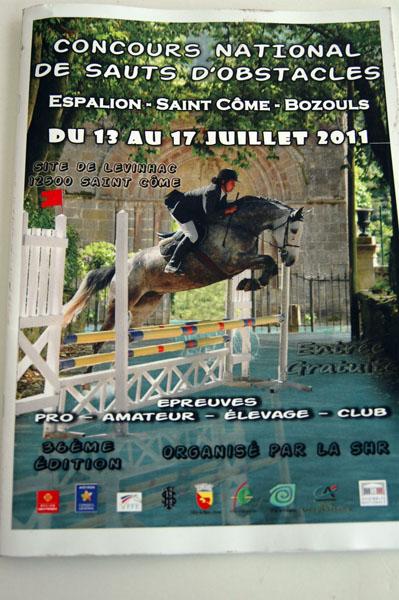 Affiche concours Espalion - ph. Julie Valade