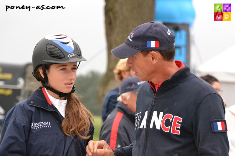 A la reconnaissance de la finale individuelle, Eric Muhr et sa fille Tressy - ph. Pauline Bernuchon