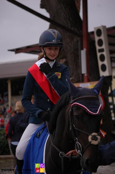 Le poney français Nils d'Hurl'Vent, champion d'Europe par équipe ! - ph. Camille Kirmann