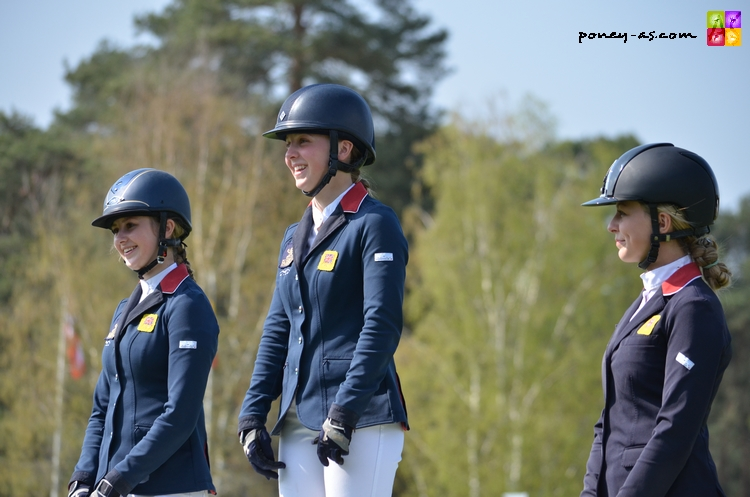 Le podium du Grand Prix CSIOP 2013 - ph. Camille Kirmann