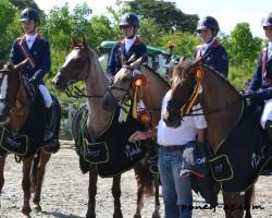 Alban, Mélissa, Camille et Quentin, médaillés de bronze par équipes - ph. Pauline Bernuchon