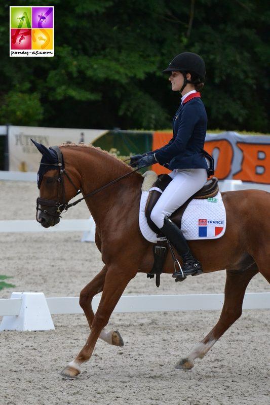Liloï Lourde Rocheblave et Voltair de Lalande ont réalisé un superbe test de dressage avec une 2e place à la clé - ph. Pauline Bernuchon