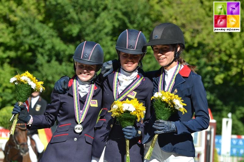 Podium individuel des championnats d'Europe poneys 2017 - ph. Pauline Bernuchon