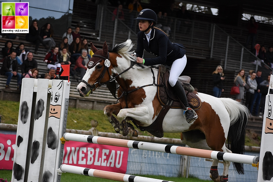 Elise Gueffier et Baladin du Bessey, 4 points - ph. Poney As