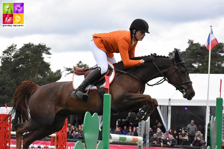 Mart Ijland (Ned) et Fantasia, ici dans la Coupe des nations - ph. Pauline Bernuchon.
