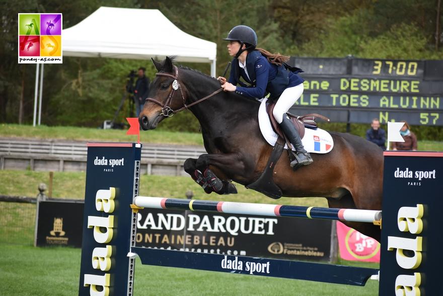 Léane et Twinkle Toes Aluinn sur le Grand Prix du CSIOP de Fontainebleau - ph. Poney As