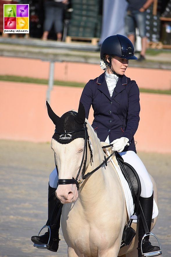 Marine Desjardins et Domenik - ph. Poney As