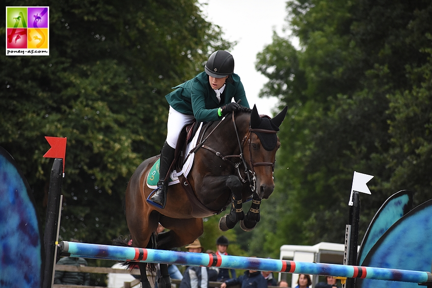 Max Wachman (Irl) et Cuffesgrange Cavalidam - ph. Poney As