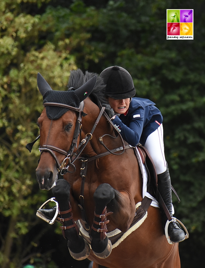 Claudia Moore (Gbr) et Elando van de Roshoeve - ph. Poney As