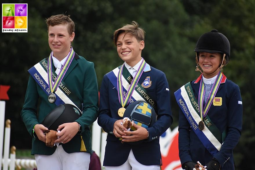 Ingemar Hammarström en or, Max Wachman (Irl) en argent et Claudia Moore (Gbr) en bronze - ph. Poney As