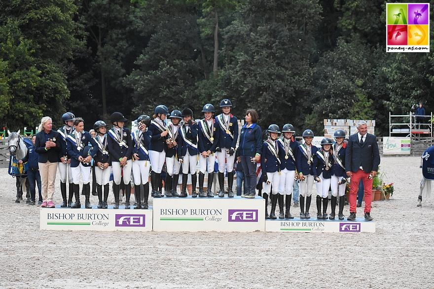 La Grande-Bretagne en or, la Suède en argent et la France en bronze - ph. Poney As