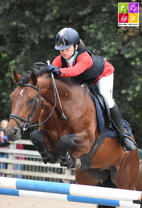 Saphir de Cormeilles est champion d'Italie sous la selle de Bianca Ciocca - ph. Poney As
