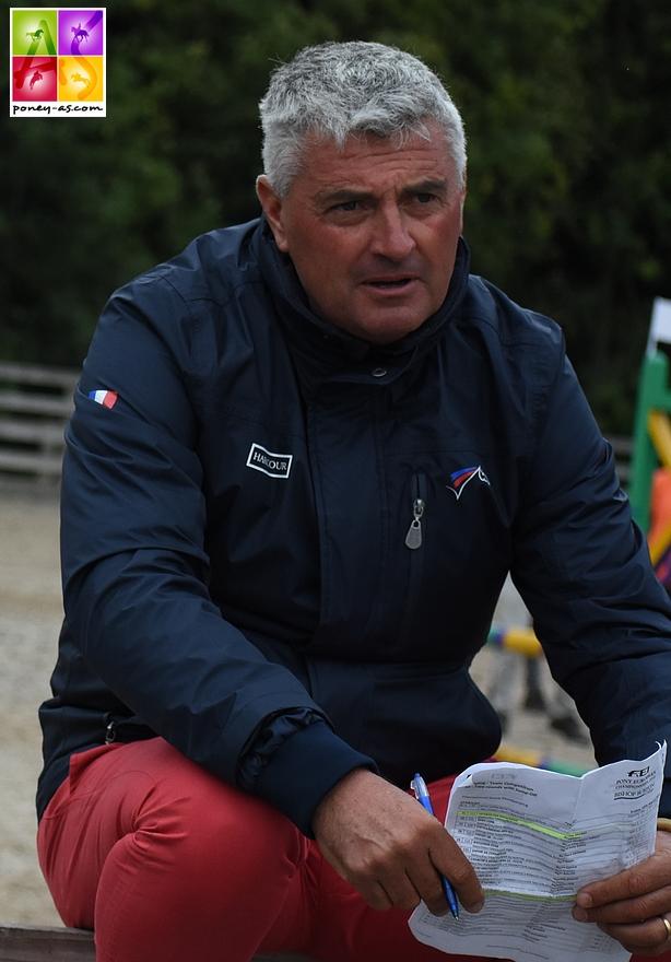 Le sélectionneur national Olivier Bost a pu observer ce week-end une quarantaine de couples chez lui, au Haras des Brulys - ph. Poney As