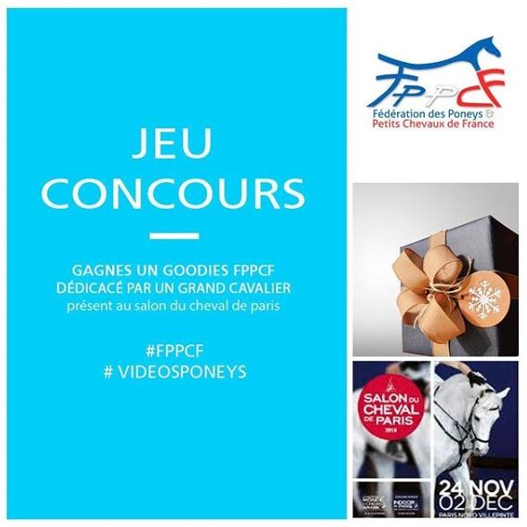 Jeu concours FPPCF Salon du Cheval de Paris