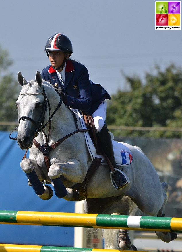 Jimmerdor et Mégane Moissonnier aux championnats d'Europe d'Arezzo en 2013 - ph. Poney As