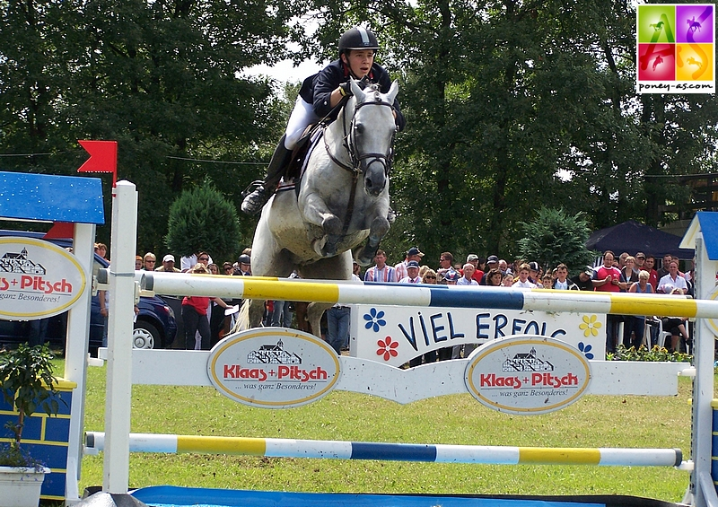 Le couple se qualifiait pour la finale individuelle, classé 24e - ph. Poney As