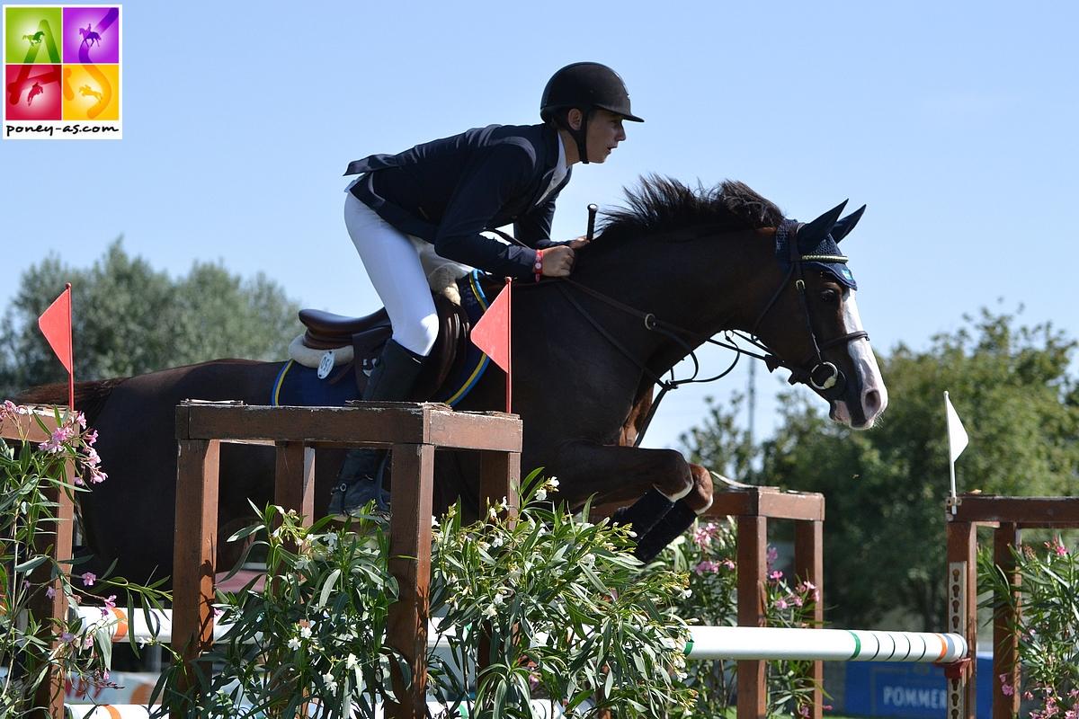 La Luna et Philip Carey (Swe) aux championnats d'Europe d'Arezzo en 2013 - ph. Poney As