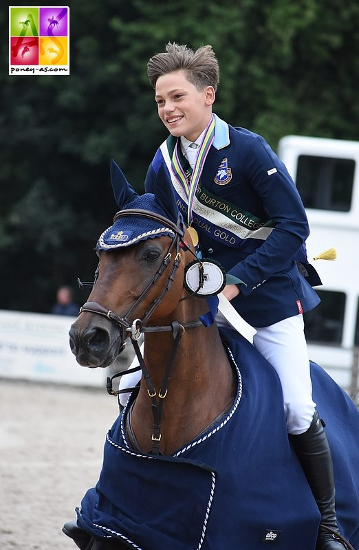 Ingemar Hammarström et Océan des As, champions d'Europe en individuel à Bishop Burton - ph. Poney As