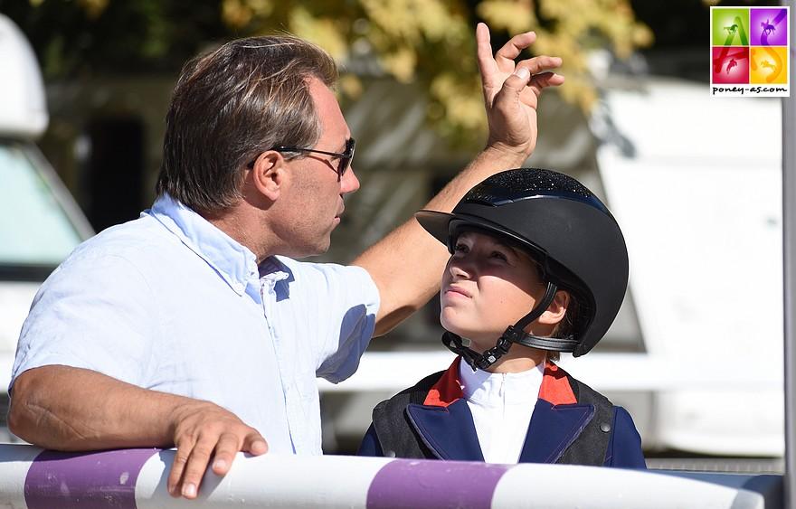 Sarah Desmoules et son père Rodrigue, en lice ce week-end sur le championnat de France Pro 2 à Fontainebleau - ph. Poney As