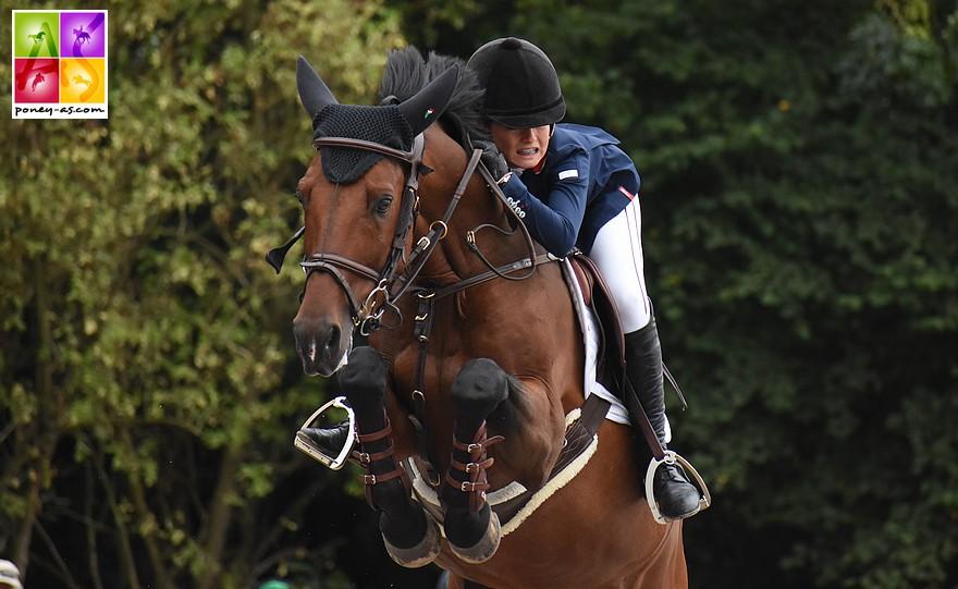 Claudia Moore et Elando van de Roshoeve lors de la finale individuelle des championnats d'Europe de Bishop Burton - ph. Poney As
