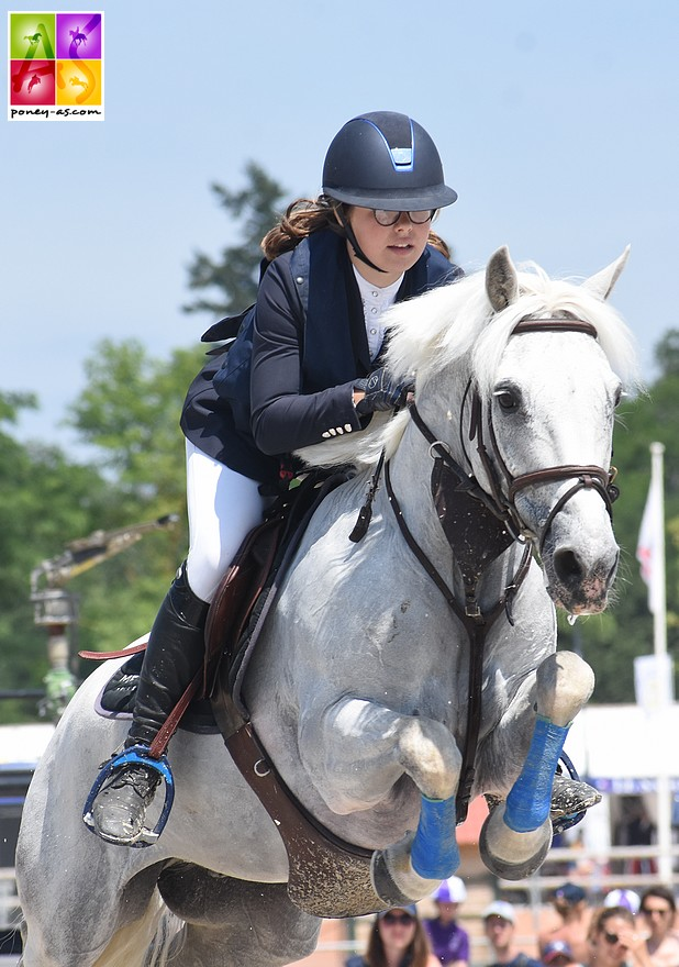 Pauline Scalabre et Sligo de Mormal réalisent 2 parcours sans-faute ce week-end et s'offrent le GP As Excellence - ph. Poney As