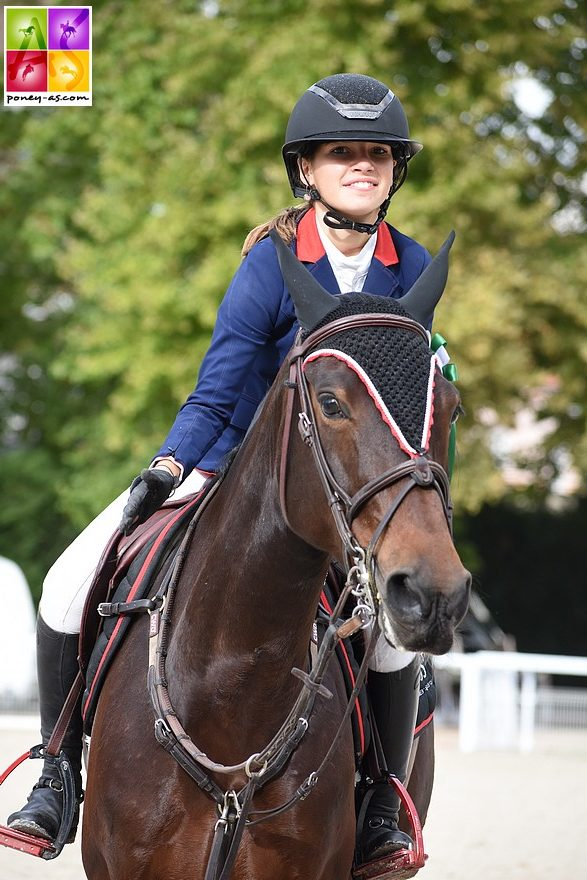 Sarah Desmoules et Austin Joyeuse ont remporté le Grand Prix As Excellence de Sainte-Cécile le 22 septembre - ph. Poney As
