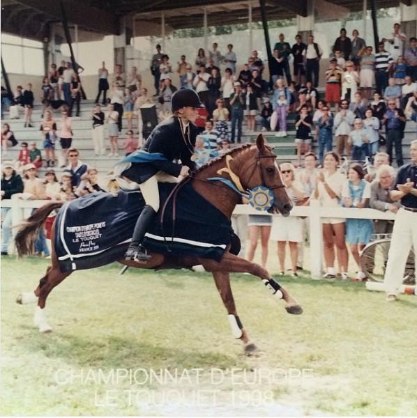 Elin et Queen, toujours au Touquet, en 1998 - ph. coll. PSV