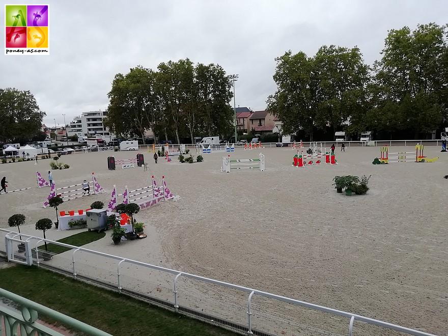 La piste du Stade Equestre du Sichon sablée en 2018 - ph. Poney As