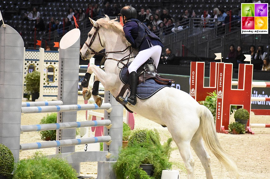 Après la Super As de Paris, Mathis Vallat et Udix d'Isky s'offrent l'épreuve phare de la TDA de Macon – ph. Poney As