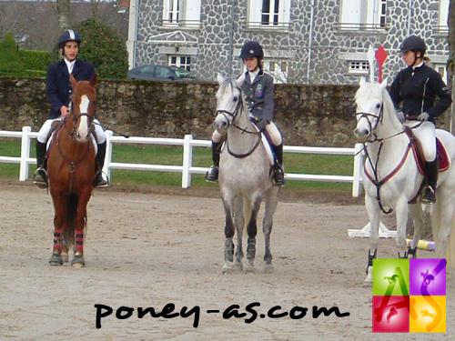 Remise des prix du GP de Pompadour. De gauche à droite  Astier Nicolas, Marie Bouchanville et Maroussia Probonas, photo Pauline Bernuchon