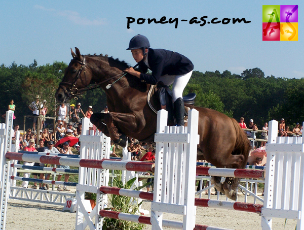 Thomas Jussiaux et Silverlea Simply Red, photo Pauline Bernuchon