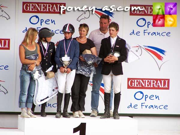 Podium du Grand Prix des As Excellence de CSO, photo Pauline Bernuchon