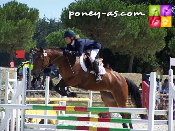 Vice-championne des 5 ans D : Querly Sand (Pfs, Happy Villers, Sf x Mynach Fulmar, Wd), photo Pauline Bernuchon