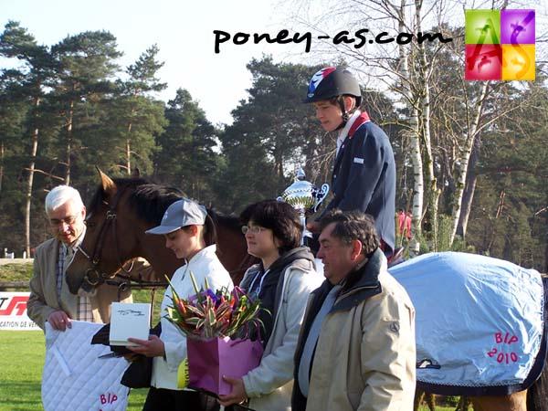 Florian Lemaitre, en selle sur Happy du Halage, vainqueur d'une épreuve internationale du CSIOP, photo Pauline Bernuchon