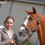 Joy Albeck et Tim, qualifiés pour la finale du CDIP de Hambourg - ph. Pauline Bernuchon