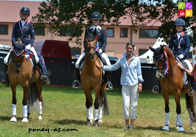 Podium des derniers championnats de France, avec de gauche à droite : Clarissa Stickland, Capucine Molliex, Alizée Froment et Camille Boireau - ph. Pauline Bernuchon
