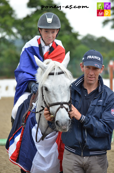 A Millstreet toujours : Eric Scalabre avec son fils Thomas et Sligo de Mormal - ph. Poney As