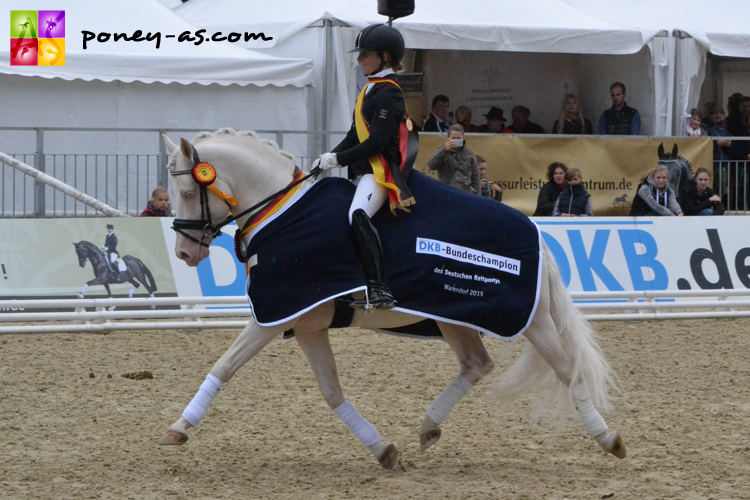 Le champion des 4 ans mâles se nomme Golden West (Hesseilteich's Golden Dream x FS Golden Moonlight). Il était monté par Wibke Hartmann-Stommel - ph. Pauline Bernuchon