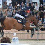 Sarah Desmoules et Tutti Quanti Joyeuse*du Mystère sont 29e sur 68 partants de leurs premier championnat de France As Elite de CSO - ph. Pauline Bernuchon