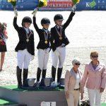 Podium de la Kür - Lucie-Anouk Baumgürtel (Ger) en or, Louise Christensen (Den) en argent et Sara Aagaard Hyrm (Den) en bronze