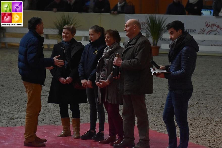 Chantal et André Magdelaine, naisseurs de Quabar des Monceaux, récompensés - ph. Pauline Bernuchon