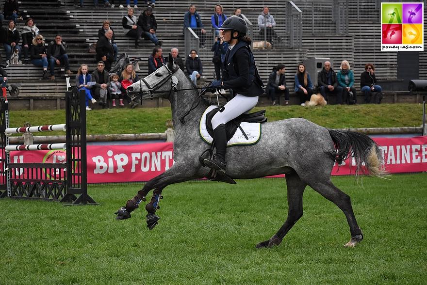 Bertille Giraut et Chimmerdor Dya, 4 points - ph. Poney As