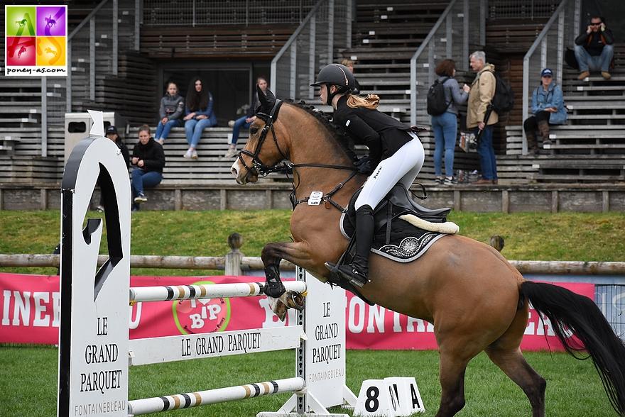 Hanna Schumacher et Golden Beach Boy, 12 points - ph. Poney As